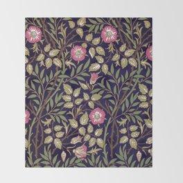 William Morris Sweet Briar Floral Art Nouveau Throw Blanket