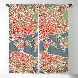 Stockholm city map classic Blackout Curtain