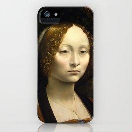 Ginevra de Benci by Leonardo da Vinci iPhone Case