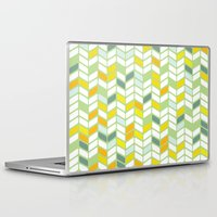 herringbone Laptop & iPad Skins featuring Herringbone by Jaybeak
