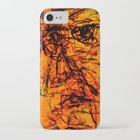 depression iPhone & iPod Cases featuring Depression in Charcoal by Abram Freitas