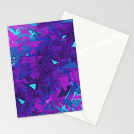 Pink, Purple, and Blue Triangles 2 Stationery Cards