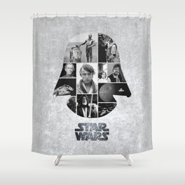 A New Hope COLLAGE variation Shower Curtain