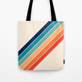 Karanda - 70s Style Classic Retro Stripes Tote Bag