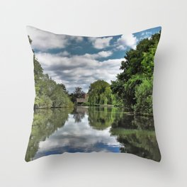 River Bure Wroxham to Coltishall Throw Pillow