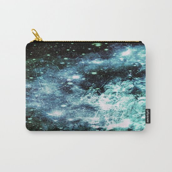 Chaotic Space : Galaxy Aqua Green Gray Carry-All Pouch
