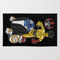 beastie boys Area & Throw Rugs featuring Beastie Droids by JVZ Designs