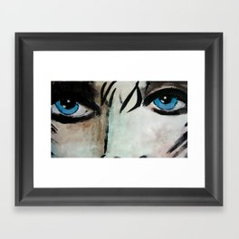 Woman with Blue Eyes  Framed Art Print