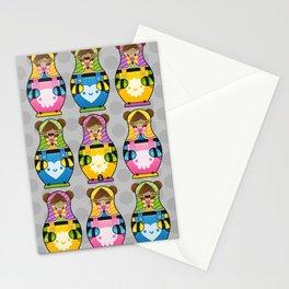 Chestnut Girl Matrioshkas Stationery Cards