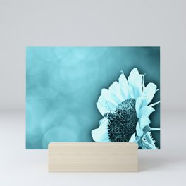 Monochromatic Bee on Sunflower Mini Art Print