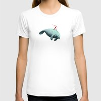 manatee T-shirts featuring Manatee Rider by Anthony James Rich