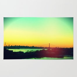 sunset in NYC Rug