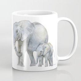 Mother and Baby Elephants Coffee Mug