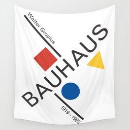 Bauhaus Movement Poster Artwork, 1919 Walter Gropius Reproduction, tshirt, tee, jersey, poster, artw Wall Tapestry