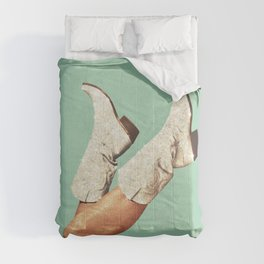 These Boots - Glitter Green Comforters