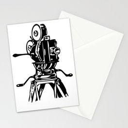 Vintage Motion Picture Film Camera Graphic Stationery Cards