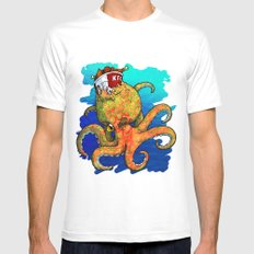 The Octopus and the Chicken Mens Fitted Tee White MEDIUM