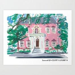 Savannah Ga Art Print