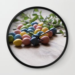 Easter Eggs 15 Wall Clock