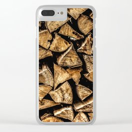 Camp Fire Wood Clear iPhone Case