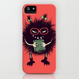 Evil Bug Student Loves To Read iPhone Case