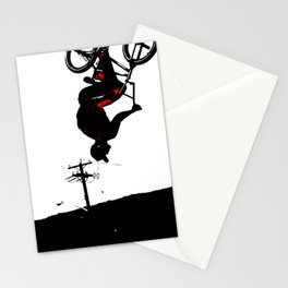 Daring Back-Flip - Freestyle BMX Bikers Stationery Cards