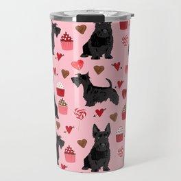Scottie scottish terrier valentines day dog love pet portrait cute puppy dog valentine Travel Mug