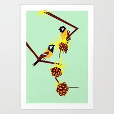 2 little birds Art Print