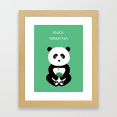 Enjoy green tea Framed Art Print