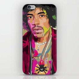 Jimi Hendrix Illustration iPhone Skin