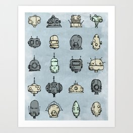 Robot Menagerie Art Print