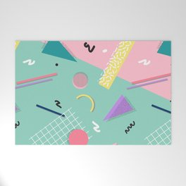 Dreaming 80s Pattern #society6 #decor #buyart Welcome Mat