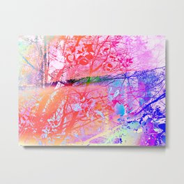 Under the trees colorful Metal Print