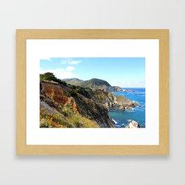 California Coastal Drive 2 Framed Art Print