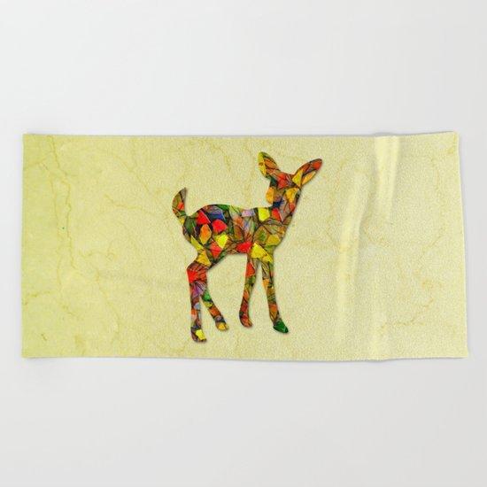 Animal Mosaic - The Fawn Beach Towel