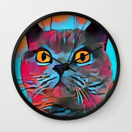 British Shorthair Wall Clock