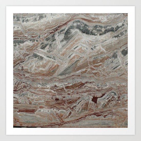 Arabescato-Orobico Fine Marble Art Print