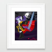 castlevania Framed Art Prints featuring Castlevania Symphony of the Night: Rarity by Lady Pixel Heart