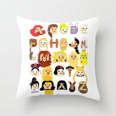 Princess Alphabet Throw Pillow