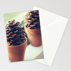 pinecones in the window Stationery Cards
