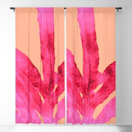 Peach Pink Ferns, Living Coral Blackout Curtain