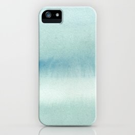 Abstract blue texture watercolor. iPhone Case