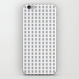 Simple Black and White Watercolor Stripes x Three iPhone Skin