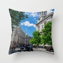 St. Paul's Cathedral in Color, London Throw Pillow
