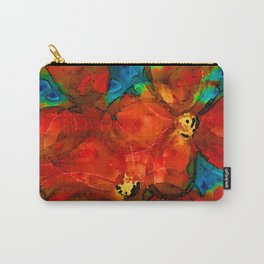 Garden Spirits - Vibrant Red Poppies Flowers By Sharon Cummings Carry-All Pouch