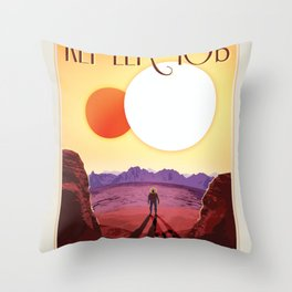 NASA Visions of the Future - Relax on Kepler-16b Throw Pillow