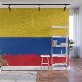 Extruded flag of Columbia Wall Mural