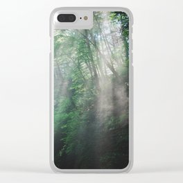 Slanted Mist Clear iPhone Case