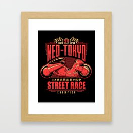 Neo-Tokyo Street Race Champion Framed Art Print