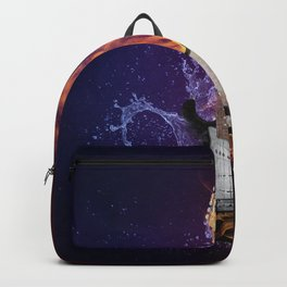 Cool Music Guitar Fire Water Artistic Backpack